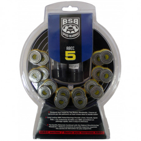 BSB ABEC 5 bearings for inline skates