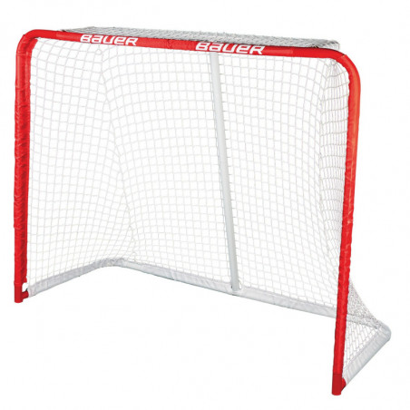 """Bauer Deluxe Rec 54"""" metal hockey goal"""