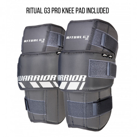 Warrior Ritual G3 hockey goalie leg pads - Senior