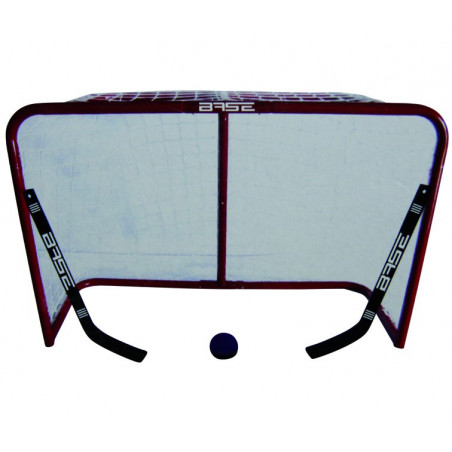 Base porta da metallo per hockey 32'' con due mini bastoni e una palla