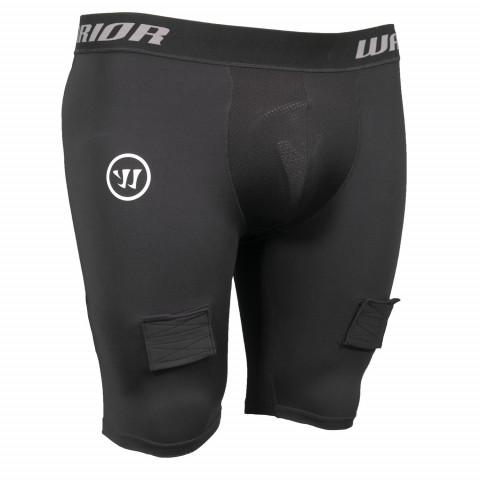 Warrior kratke kompresijske hokejske spodnje hlače s suspenzorjem - Junior