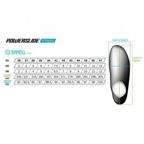 Powerslide Swell lite black 100 fitnes roleri - Senior
