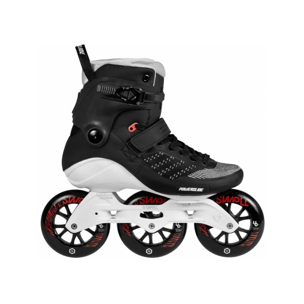 bd17a8c3845 Powerslide Swell Trinity Metalic black 110 fitness skates - Senior