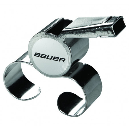 Bauer metal hockey referee finger whistle